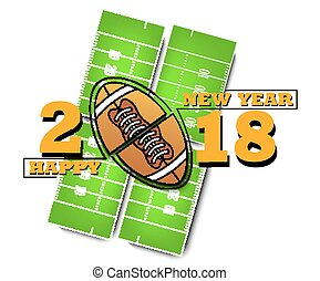 happy new year and football