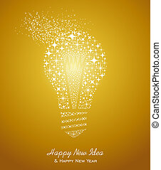 Happy New Year and Ideas 2014 greeting card - Happy New Year...
