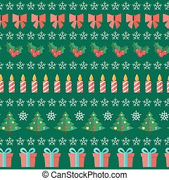 Happy New Year and Marry Christmas Seamless Pattern Background