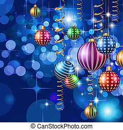 Happy New Year and Merry Christmas Background for your...