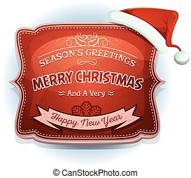 Happy New Year And Season's Greetings Badge
