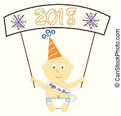 Happy New Year Baby Banner