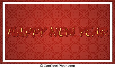 Happy new year background design in red