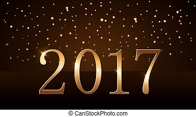 Happy New Year background gold 2017