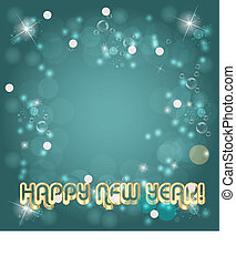 Happy New Year Background with bokeh and bright stars