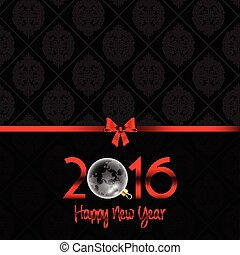 Happy New Year background with Damask pattern 0311