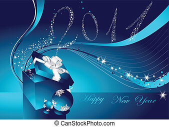 Happy New Year background with gift