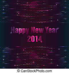 Happy New Year background with plasma design
