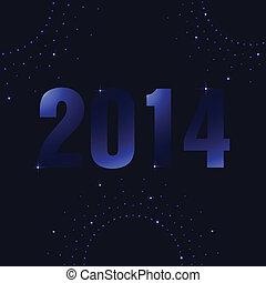 Happy New Year background with plasma design