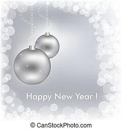 Happy New Year Beautiful Silver Design