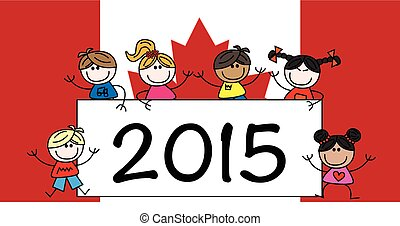 happy new year canadian flag
