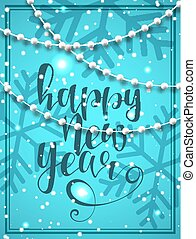 Happy new year card. Banner Merry Christmas.