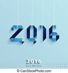 Happy New Year Card blue style