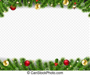 Happy New Year Card Border Transparent Background