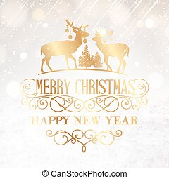 happy new year, card.