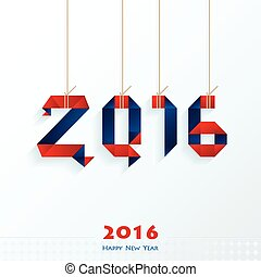 Happy New Year Card red and blue color