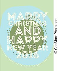 Happy new year card retro vintage