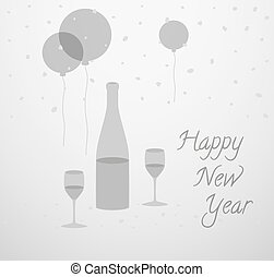 Happy new year 2014 turkey toasting wine cartoon vector clip art happy new year card m4hsunfo