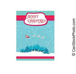 Happy New year card with Santa