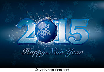 Happy New Year card with stars
