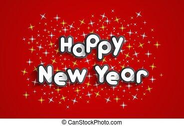 Happy new year celebration greeting card design