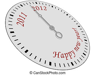Happy New Year Clock - Clock with Happy New Year written on...