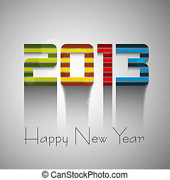 Happy new year colorful 2013 background vector