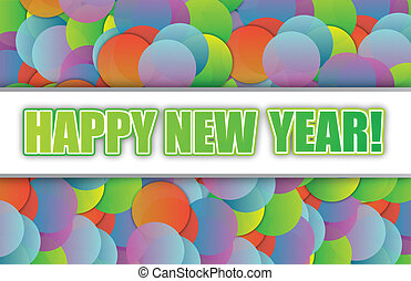 Happy new year colorful card background illustration