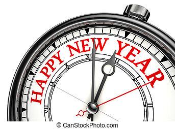happy new year concept clock