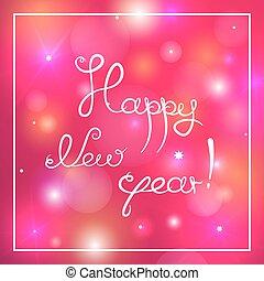 Happy new year congratulation, vector illustration