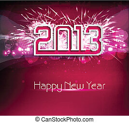 Happy new year creative 2013 colorful holiday vector background