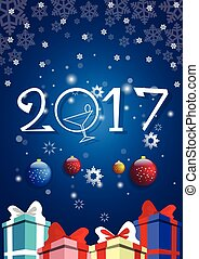 Happy New Year Decoration Celebration Banner Illustration