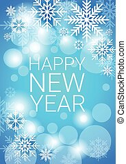 Happy New Year Decoration Celebration Banner Flat Vector...