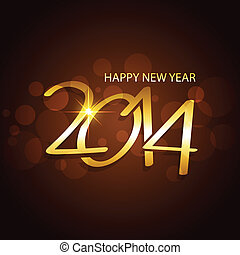 happy new year design - happy new year 2014 vector design