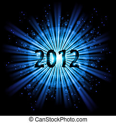 Happy New Year - Blue abstract Happy New Year twenty twelve...
