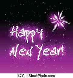 Happy New Year - Vector illustration of Happy New Year in...