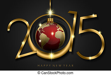 Happy New Year Everybody - An abstract illustration on New...