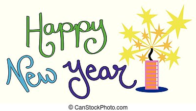 Happy New Year Firecracker