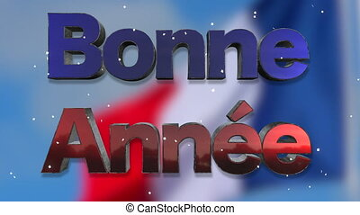 Happy New Year French Language Background Loop