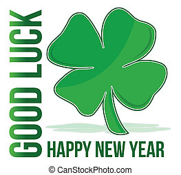 happy new year green clover good