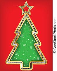 Happy New Year greeting card, vecto
