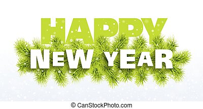 Happy New Year greeting card - Vector illustration