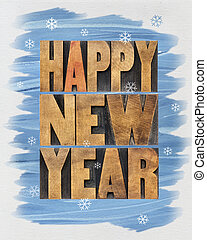 Happy New Year greetings or wishes - a collage of text in ...