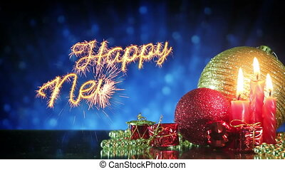 happy new year greetings sparkler last 10s loopable