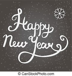 Happy New Year hand lettering