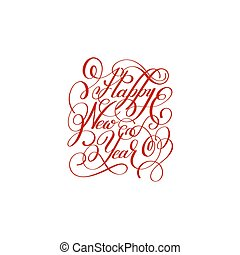 happy new year handwritten lettering text inscription...
