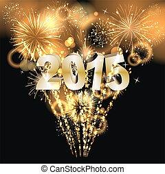 Happy New Year - Hintergrund mit Feuerwerk