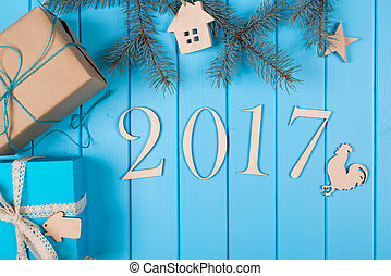 Happy New Year holiday 2017.