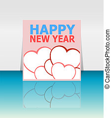Happy New Year Holiday Card, Merry Christmas