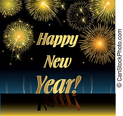 Happy New Year, Illustration vector